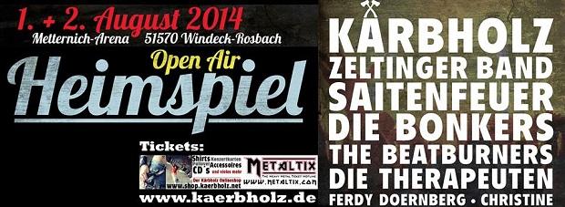 Kärbholz Heimspiel-Poster 2014
